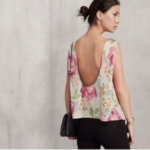Reformation Malaga Scoop Back Floral Tank S